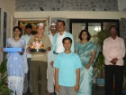 Carlos Uanini from Argentina celebrating Ganesh Visarjan Festival in Shashi Clinic India