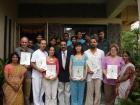 M Angels, Ramon Carol, Elisabeth , Nuria Bernabeu, Carlos Echeverri , Manuel Dominguez received Diploma in  Panchakarma. 2008