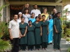 M Angels, Ramon Carol, Elisabeth , Nuria Bernabeu, Carlos Echeverri Felicitated on Arrival to Shashi Clinic for Panchakarma