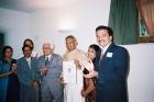 With prof.Dr P H Kulkarni, Swami Joytimayanand ,  at Joytinat Ashram Corinaldo Italy 2004
