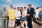With prof.Dr P H Kulkarni, Swami Joytimayanand , Pasquin at San Marino Italy 2004