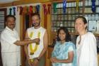 Dr C S Pawar Felicitating Andrew Gusi Spain